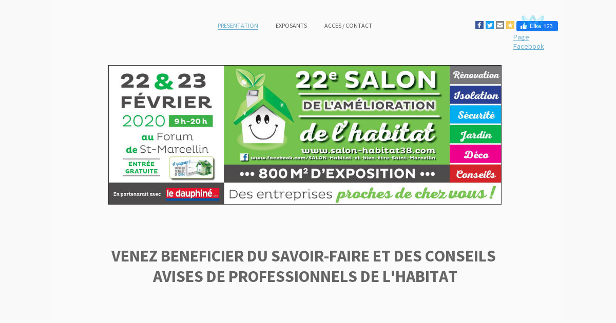 Salon de l 39 habitat de saint marcellin presentation for Salon de l habitat valence